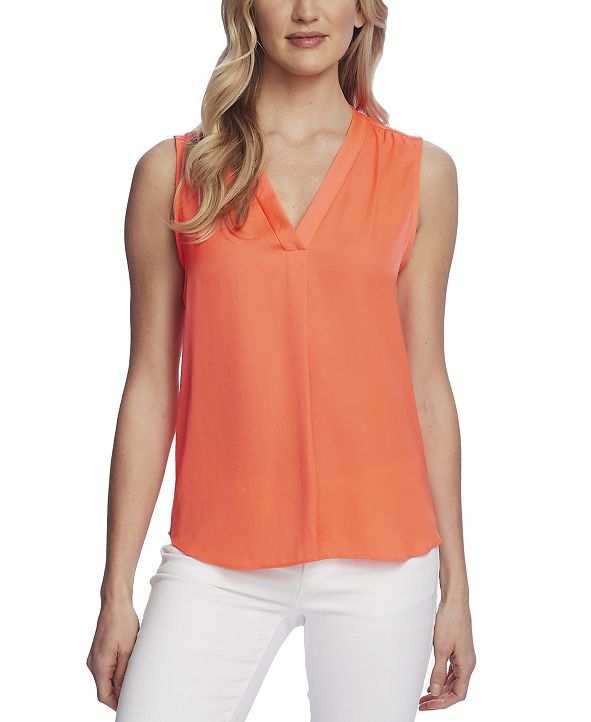 Vince Camuto Women's Sleeveless V-Neck Blouse
