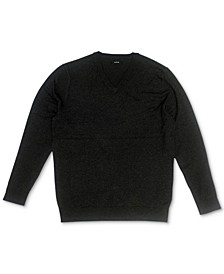 Men's Solid V-Neck Cotton Sweater, Created for Macy's