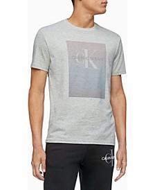 Men's Monogram Logo Gradient Block Crewneck T-shirt