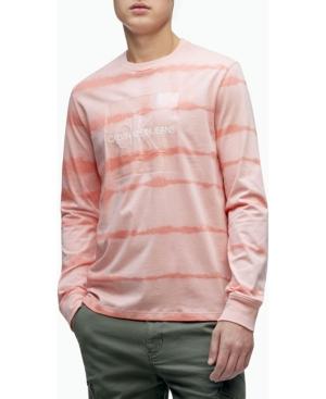 Calvin Klein Men's Monogram Logo Crewneck Long Sleeve Tee