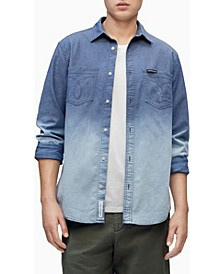 Men's Chambray Button-Down Long Sleeve Shirt