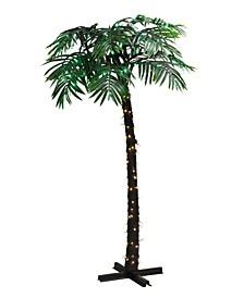 "8"" Pre-Lit Palm Tree"