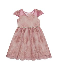 Toddler Girl Lace Illusion Dress
