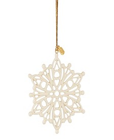 2020 Golden Snow Fantasies Snowflake Ornament