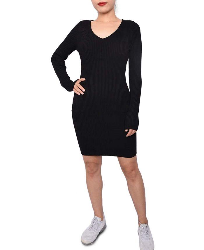 Planet Gold - Juniors' Bodycon Sweater Dress