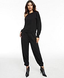 CULPOS x INC Cold-Shoulder Knit Top, Created for Macy's