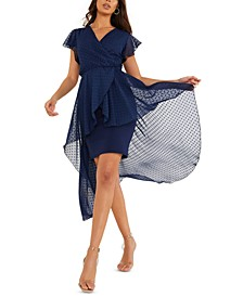 Overlay High Low Wrap Dress