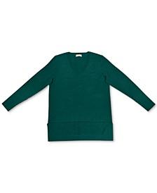 V-Neck Band-Hem Sweater, Created for Macy's