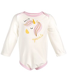 Baby Girls Born To Sparkle Bodysuit, Created for Macy's