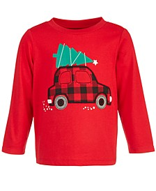 Baby Boys Holiday Car T-Shirt, Created for Macy's