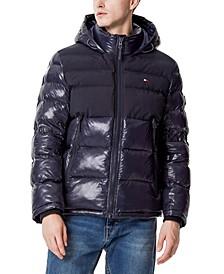 Men's Two-Tone Matte & Shiny Puffer Jacket