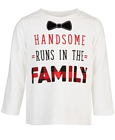 Baby Boys Long-Sleeve Handsome Bowtie T-Shirt, Created for Macy's