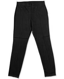 Plus Size Seamed Ponté-Knit Leggings, Created for Macy's