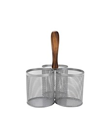 3 Section Mesh Silverware & Flatware Caddy Organizer