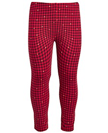 Toddler Girls Holiday Check Leggings, Created for Macy's