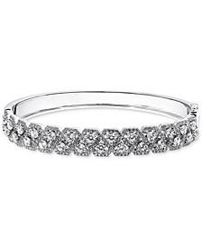 Swarovski Zirconia Bangle Bracelet in Sterling Silver