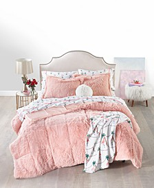 Shaggy Faux Fur Full/Queen 3-Pc. Comforter Set, Created for Macy's