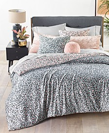 Reversible 3-Pc. Cheetah-Print King Comforter Set, Created For Macy's