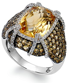 Citrine (9-3/8 ct. t.w.) & White Topaz (1/2 ct. t.w.) Ring in Sterling Silver (Also in Blue Topaz and Amethyst)