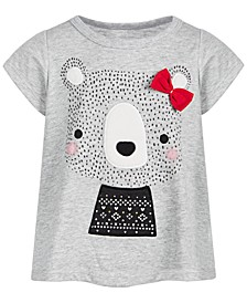 Baby Girls Holiday Bear T-Shirt, Created for Macy's