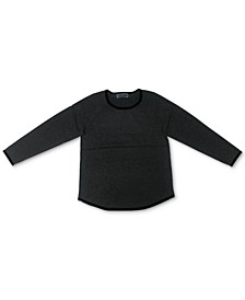 Contrast Curved-Hem Sweater, Created for Macy's