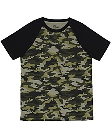 Big Boys Short Sleeve Crew Neck Ronny Camo T-Shirt