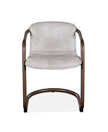 Chiavari Leather Dining Chairs, Set of 2