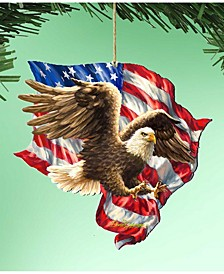 by Dona Gelsinger American Liberty Eagle Ornament, Set of 2