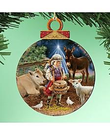by Dona Gelsinger Little Drummer Boy Ornament, Set of 2