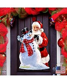 by Dona Gelsinger Building A Snowman Santa Wall and Door Hanger