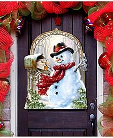 by Dona Gelsinger Seasons-Greetings Snowman Wall and Door Hanger