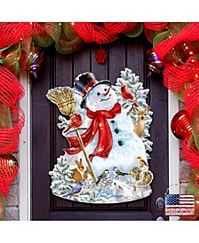 by Dona Gelsinger Frosty Forest Friends Snowman Wall and Door Hanger