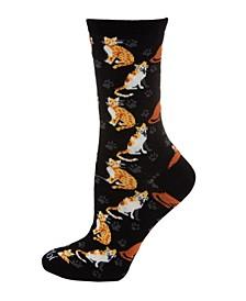 Cats and Friend Women's Novelty Socks