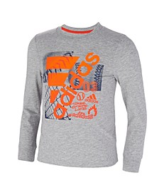 Little Boys Long Sleeve Heather Court Mix Tee