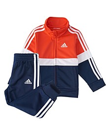 Toddler Boys Zip Front Varsity Track Jacket Jogger Set