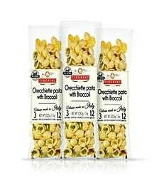 One Pot Dish - Orecchiette Pasta with Broccoli Rapini - 7oz 200 Grams, Pack of 3