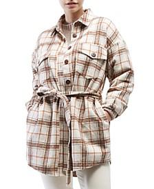Belted Shirt Jacket