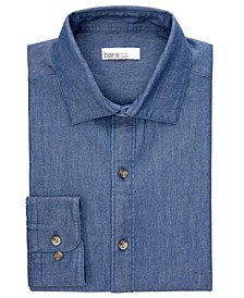 Men's Denim-Style Long-Sleeve Shirt, Created for Macy's