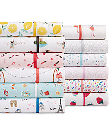 Whim By Martha Stewart Collection Novelty Print Queen 4-Pc. Sheet Set, 250 Thread Count 100% Cotton, Created for Macy's