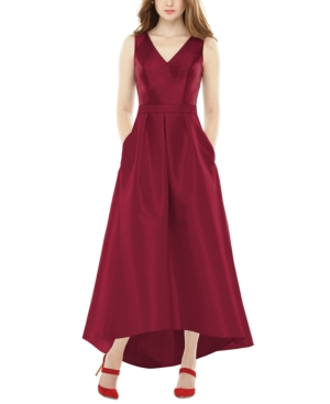 High-Low Satin Gown