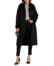 Long Faux-Shearling Coat