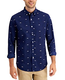 Men's Dog-Print Cotton Shirt, Created for Macy's