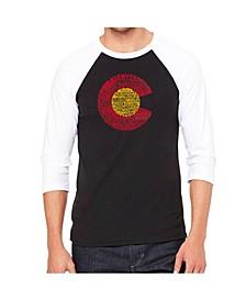 Colorado Men's Raglan Word Art T-shirt