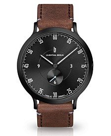 L1 All Brown Leather Strap Watch, 42mm