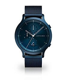 All Blue Chronograph with Blue-Tone Stainless Steel Mesh Bracelet Watch, 42mm