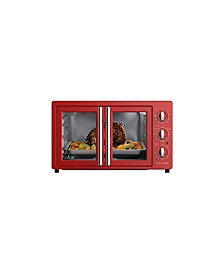 42L Bebop Blue Retro French Door Toaster Oven with Air Fry