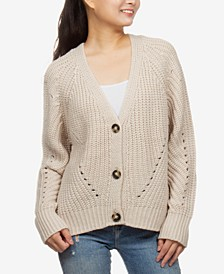Juniors' Pointelle-Knit Cardigan