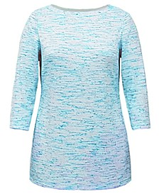 Plus Size Space-Dyed Tunic Top, Created for Macy's