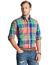 Men's Classic Fit Madras Shirt