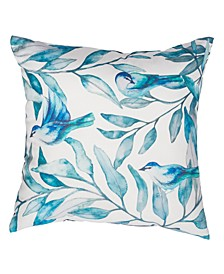 "Outdoor Leaf Print 20"" x 20"" Decorative Pillow"